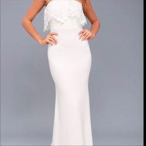 Lulu's NEW women's floor length dress sz S